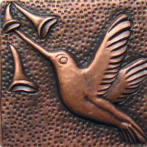 Copper Tile - Hummingbird #2