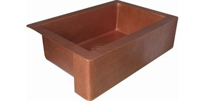 Single Bowl Copper Farmhouse Kitchen Sink
