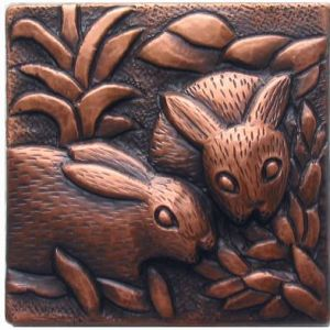 Copper Tile - Bunnies