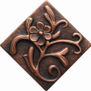 Copper Tile - Flower #11