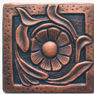 Copper Tile - Flower #13