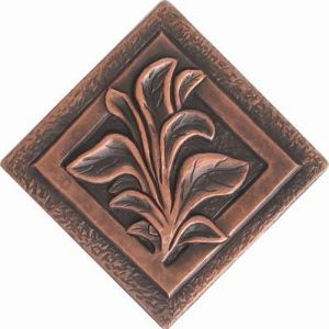 Copper Tile - Flower #16
