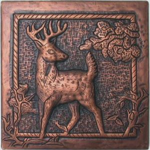 Copper Tile - Deer