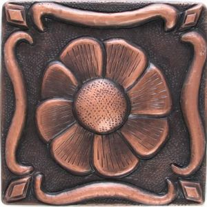 Copper Tile - Flower #18