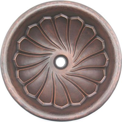Round Copper Vanity Sink