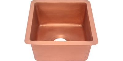 Square Prep/Bar Copper Sink