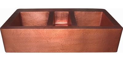 Triple Bowl Copper Farmhouse Kitchen Sink
