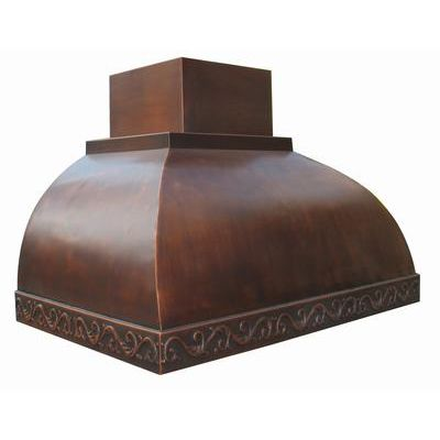 Double Step Rolled Copper Range Hood