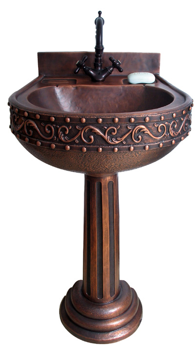 Copper Pedestal Sink - Roman