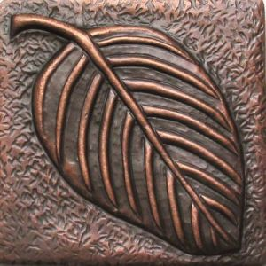 Copper Tile - Leaf