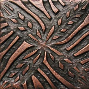 Copper Tile - Flower #6