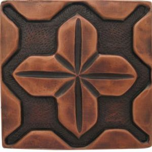 Copper Tile - Geometric #3
