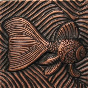 Copper Tile - Fish