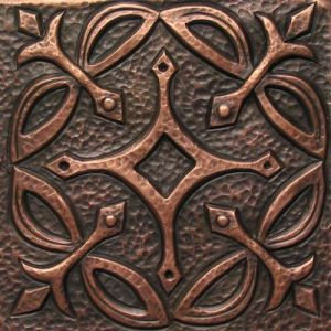 Copper Tile - Geometric #4