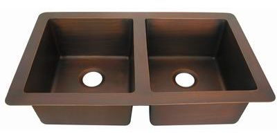 Double Bowl Copper Kitchen Sink