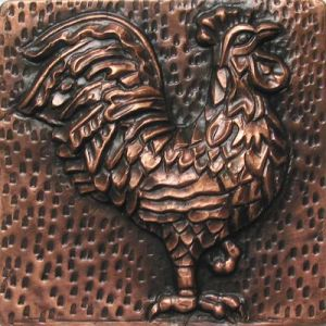 Copper Tile - Rooster
