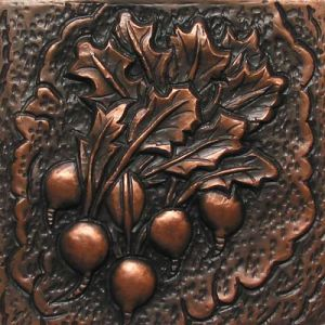 Copper Tile-Radishes
