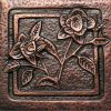 Copper Tile - Flower #4